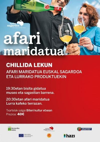 24/09/2021. Cena maridada y visita guiada en Chillida Leku, con Euskal Sagardoa