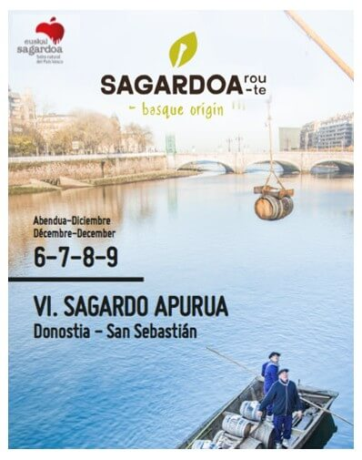 2019/12/07 13:00h. Tasting with Euskal Sagardoa DO, Natural cider and local products