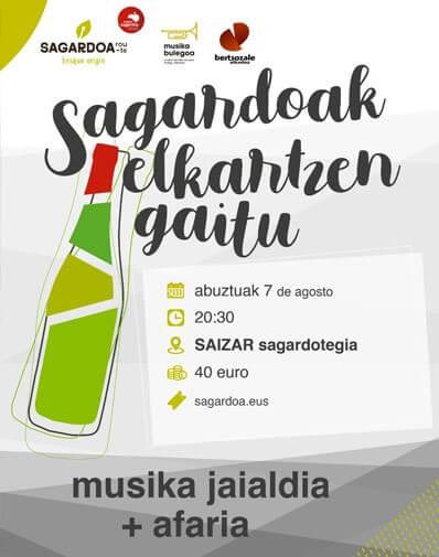 07/08/2020 20:30h. FESTIVAL DE MÚSICA Y CENA EN LA SIDRERÍA SAIZAR